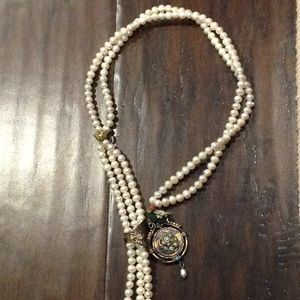 Jewelry - Pearl and brass lariat